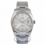Rolex Datejust Stainless Steel 36mm Domed Bezel Silver Stick Dial116200 - TZEVA5 - Beverly Hills Watch Company Watch Store
