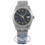 Rolex Oyster Date 34mm Stainless Steel Deep Blue Dial Gold Plated 540561 8TC420 - Beverly Hills Watch Company