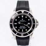 Rubber B Black Rubber Strap for Rolex Stainless Steel Sea-Dweller M106-BK with a Tang Buckle (Strap Only) Beverly Hills Watch Company