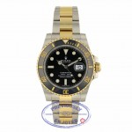 Rolex Classic Submariner Stainless Steel and Yellow Gold Black Dial Black 116613 2NVF2W - Beverly Hills Watch