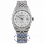 Rolex Vintage Datejust 36mm White Diamond Dial 16030 Q16JAF - Beverly Hills Watch Company