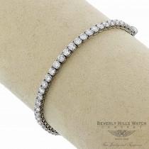 18K White Gold Diamond Tennis 45 Diamonds Bracelet 8563-182-775 HDXRU3 - Beverly Hills Watch