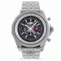 Breitling Bentley Chronograph GMT 47MM Stainless Steel Black Dial AB0431 353HGT- Beverly Hills Watch Company