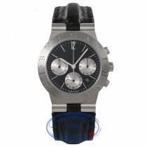 Bvlgari Diagono Chronograph Stainless Steel Automatic Black Dial CH 35 S WDBKN6 - Beverly Hills Watch Store
