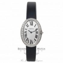 Cartier Baignoire Small 18k White Gold Quartz Diamond Bezel Silver Dial WB520008 CJPWYK - Beverly Hills Watch Company Watch Store