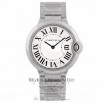 Cartier Ballon Bleu Medium Stainless Steel Silver Dial Quartz W69011Z4 FWFWKL - Beverly Hills Watch Company