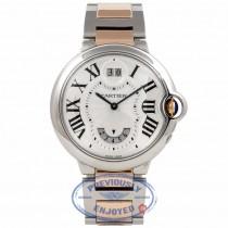 Cartier Ballon Bleu Dual Time Quartz Medium 18k Rose Gold Stainless Steel W6920027 SBMJEK - Beverly Hills Watch Company Watch Store