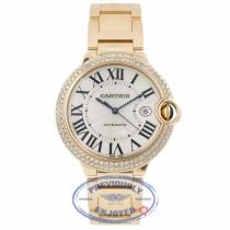 Cartier Ballon Bleu Large 18k Yellow Gold Diamond Bezel WE9007Z3 TTZT1C - Beverly Hills Watch Company Watch Store