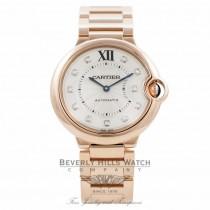 Cartier Ballon Bleu Medium 18k Rose Gold Diamond Markings WE902026 95A2Q3 - Beverly Hills Watch Company Watch Store