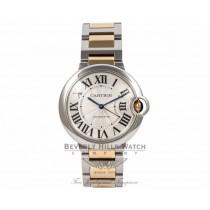 Cartier Ballon Bleu Medium 36mm Yellow Gold Stainless Steel Automatic W6920047 WDK116 - Beverly Hills Watch Company Watch Store