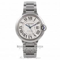 Cartier Ballon Bleu Medium 36MM Stainless Steel Silver Dial Automatic W6920046 VLVRH1 - Beverly Hills Watch Company
