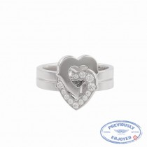 Cartier Hearts and Symbols Size 5 18K White Gold Diamonds B4064100 6UMITZ - Beverly Hills Watch