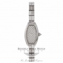 Cartier Laniere Ladies White Gold Diamonds Dial Bracelet 2545/10757DM 7279 - Beverly Hills Watch Store