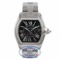 Cartier Roadster Large Stainless Steel Black Roman Numeral Dial W6206017 STT5RN - Beverly Hills Watch Company