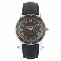 Cartier Ronde Croisiere 42MM Grey Dial Rose Gold Markings Black Leather Strap W2RN0005 C2Y7PL - Beverly Hills Watch Company