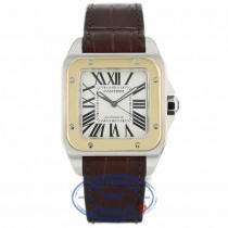Cartier Santos 100 Large Yellow Gold Stainless Steel W20072X7 UL7PYP - Beverly Hills Watch Company