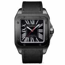 Cartier Santos Automatic Black Dial WSSA0006 KH7XEM - Beverly Hills Watch
