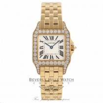 Cartier Santos Large Demoiselle Diamond Bezel 18K Yellow Gold Ladies Watch WF9002Y7 Beverly Hills Watch Company Watches