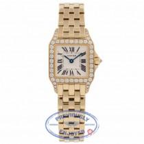 Cartier Santos Demoiselle Small Yellow Gold Diamond Bezel  WF9001Y7 RQGHIU - Beverly Hills Watch Company Watch Store