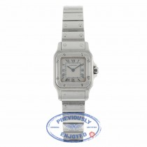 Cartier Santos Galbee Quartz Stainless Steel Creme Dial Blue Roman Numerals 1565 PP7WVF - Beverly Hills Watch
