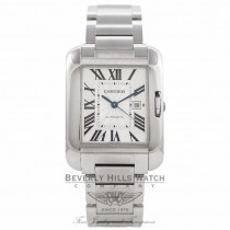 Cartier Tank Anglaise Medium Stainless Steel Silver Dial W5310009 FBJ1QH - Beverly Hills Watch Company Watch Store