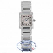 Cartier Tank Francaise 18kt White Gold Diamond Bracelet WE1002SF UXNPH5 - Beverly Hills Watch Company