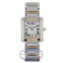Cartier Tank Francaise Large 18k Yellow Gold Stainless Steel Silver Dial Bracelet W51005Q4 1YEFV3