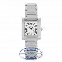 Cartier Tank Francaise Steel Large Automatic Stainless Steel W51002Q3 C94CWF - Beverly Hills Watch