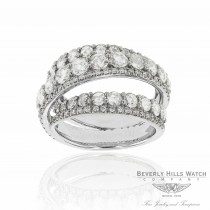 18k White Gold Handcrafted Rose Cut Round Diamonds BGW11942DD JJ8TMQ - Beverly Hills Watch