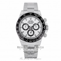 Rolex Daytona Ceramic and Stainless Steel White Dial 116500LN - Beverly Hills Watch