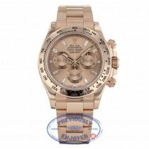 Rolex Daytona Everose Gold 40mm Oyster Bracelet Pink Champagne Diamond Dial Chronograph Watch 116505 - Beverly Hills Watch