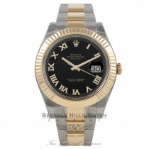 Rolex Datejust II 41mm Stainless Steel and Yellow Gold Black Dial 116333 WDDNZR - Beverly Hills Watch Company Watch Store