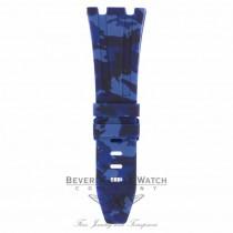 Horus Navy Blue Camouflage Rubber Audemars Piguet 42mm Strap A1R7UC - Beverly Hills Watch