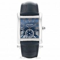 Cartier Tank MC Blue Dial Stainless Steel WSTA0010 - Beverly Hills Watch