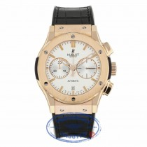 Hublot Classic Fusion Silver Dial Chronograph 18kt Rose Gold Black Leather 521.OX.2610.LR RVNZ9Q - Beverly Hills Watch