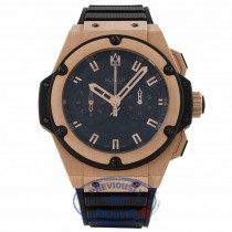 Hublot King Power Foudroyante 18k Rose Gold & Ceramic Case Black Rubber Strap 715.PX.1128.RX 934UKT - Beverly HIills Watch Company Watch Store