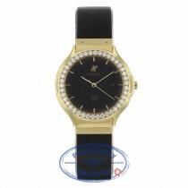 Hublot Ladies Yellow Gold Black Dial After Market Diamond Bezel 141.11.3 4260 - Beverly Hills Watch