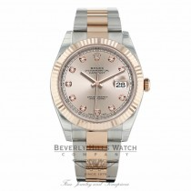 Rolex Datejust 41mm Everose and Stainless Steel Sundust Diamond Dial Oyster Bracelet 126331 - Beverly Hills Watch