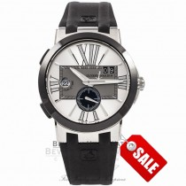 Ulysse Nardin Executive Dual Time Automatic Stainless Steel 243003/421 P6B3HC - Beverly Hills Watch Company Watch Store