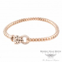 Naira & C Panther Bracelet 18k Rose Gold Enamel and Diamonds Panther Bracelet OM-CCM10265/400/E/B RXRP9U - Beverly Hills Watch Company Jewelry