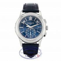Patek Philippe Annual Chronograph Platinum Case Blue Dial 42mm 5905P-001 41K56Y - Beverly Hills Watch