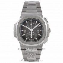 Patek Philippe Nautilus 40MM Second Time Zone Stainless Steel Black Gradient Dial 5990/1A-001 YP9A4Y - Beverly Hills Watch Company Watch Store