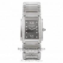 Patek Philippe Twenty-4 Stainless Steel Grey Dial Diamond Markings 4910/10A-011 VJI35T - Beverly Hills Watch Company Watch Store