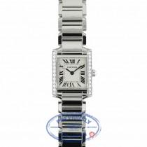 Cartier Custom Tank Francais Small Diamond Bezel Diamond Crown QRFMFG - Beverly Hills Watch Company Watch Store