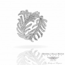 Designs by Naira 18k White Gold Feather Diamond Ring D158R55 D4HHPR - Beverly Hills Jewelry Company