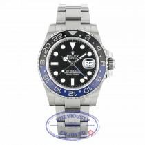 Rolex GMT Master II Bruiser Black/ Blue Ceramic Bezel Stainless Steel 116710BLNR V1A8ZA - Beverly Hills Watch