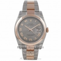 Rolex DateJust 36mm Stainless Steel and Rose Gold Silver Dial 116201 TCC8C8