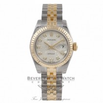 Rolex Datejust 26mm Stainless Steel Yellow Gold Silver Jubilee Diamond Dial 179173 K88064 - Beverly Hills Watch Company Watch Store