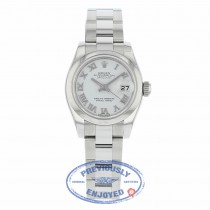 Rolex Lady Datejust 26 White Dial Stainless Steel oyster Bracelet 179160 EA2RWM - Beverly Hills Watch