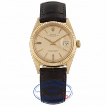 Rolex Datejust 36mm 18k Rose Gold Pink Champagne Dial 1601 8JUC9U - Beverly Hills Watch Company